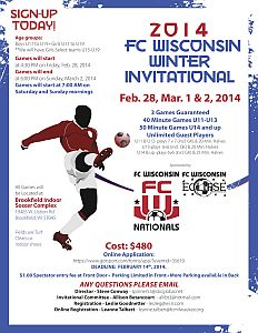 Thank You for Making the 2014 FC Wisconsin Winter Invitational A Success!